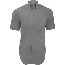 Textil Homem Camisas mangas curtas Kustom Kit KK109 Cinza Prata