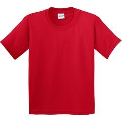 Textil Criança T-Shirt mangas curtas Gildan 64000B Vermelho