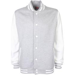 Textil Jaquetas Fdm FV001 Heather Grey/White