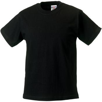 Textil Criança T-Shirt mangas curtas Jerzees Schoolgear ZT180B Preto