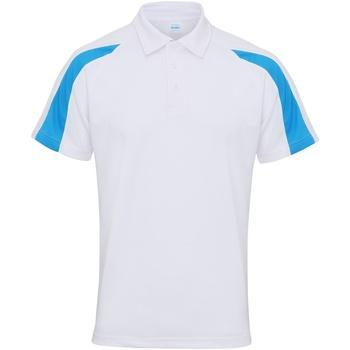 Textil Homem Polos mangas curta Awdis JC043 Branco ártico/azul de safira
