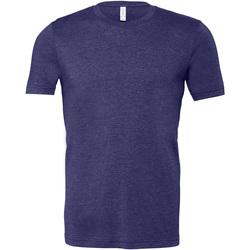 Textil Homem T-Shirt mangas curtas Bella + Canvas CA3001 Heather Meia-noite da Marinha
