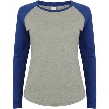 Textil Criança T-shirt mangas compridas Skinni Fit SM271 Heather Grey / Royal