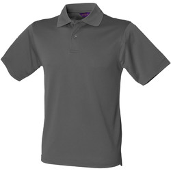 Textil Homem Polos mangas curta Henbury HB475 Cinza Carvão Vegetal