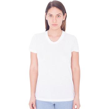 Textil Mulher T-Shirt mangas curtas American Apparel PL301W Branco