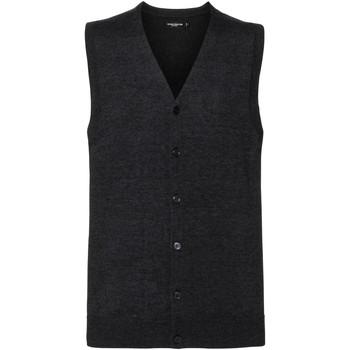 Textil Homem Casacos de malha Russell J719M Carvão Vegetal Marl