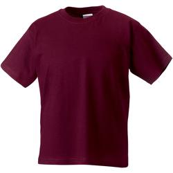 Textil Criança T-Shirt mangas curtas Jerzees Schoolgear ZT180B Borgonha