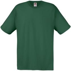 Textil Mulher T-Shirt mangas curtas Fruit Of The Loom 61082 Garrafa Verde