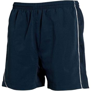 Textil Homem Shorts / Bermudas Tombo Teamsport TL081 Marinha/Navy/ White Piping