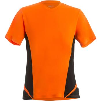 Textil Homem T-Shirt mangas curtas Gamegear KK969 Laranja Fluorescente/Preto