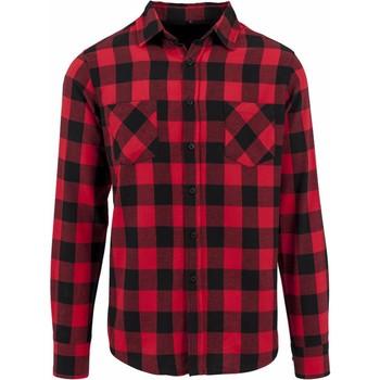 Textil Homem Camisas mangas comprida Build Your Brand BY031 Preto