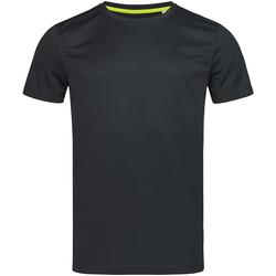 Textil Homem T-Shirt mangas curtas Stedman Mesh Opala Negra