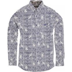 Textil Homem Camisas mangas comprida Brave Soul Idris Tinta/ Branco Óptico