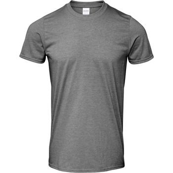 Textil Homem T-Shirt mangas curtas Gildan Soft-Style Graphite Heather