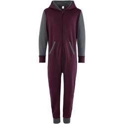 Textil Criança Macacões/ Jardineiras Comfy Co CC03J Borgonha/Carvão