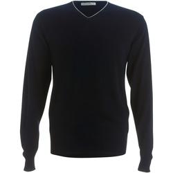 Textil Homem camisolas Kustom Kit KK358 Marinha / Silver Grey