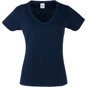 Textil Mulher T-Shirt mangas curtas Fruit Of The Loom 61398 Marinha Profunda