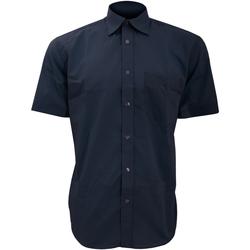 Textil Homem Camisas mangas curtas Kustom Kit KK102 Marinha Negra