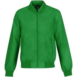 Textil Homem Jaquetas B And C Trooper Verdadeiro Verde/ Laranja Neon