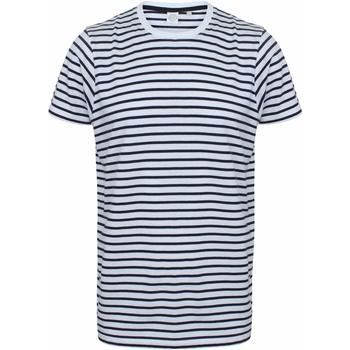Textil T-Shirt mangas curtas Skinni Fit SF202 Marinha Branca/Oxford