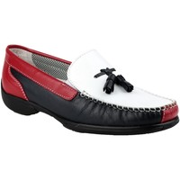 Sapatos Mulher Mocassins Cotswold BIDDLESTONE Branco/Navi/vermelho