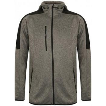 Textil Homem Casaco polar Finden & Hales LV622 Cinza Escuro Marl/Preto