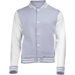 Textil Criança Jaquetas Awdis JH43J Heather Grey/White