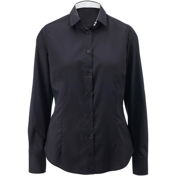 Textil Mulher camisas Alexandra AX060 Preto/ Branco