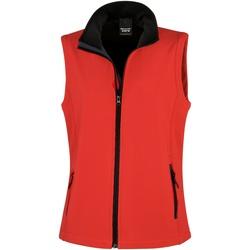 Textil Mulher Casacos de malha Result Printable Vermelho / Preto