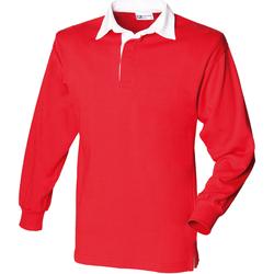 Textil Homem Polos mangas compridas Front Row FR100 Vermelho/branco
