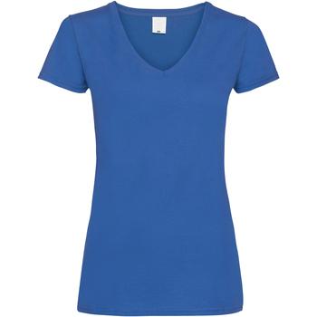 Textil Mulher T-Shirt mangas curtas Universal Textiles Value Cobalto