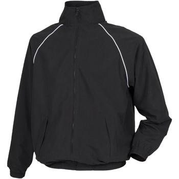 Textil Homem Corta vento Tombo Teamsport TL400 Tubulação preta/branca