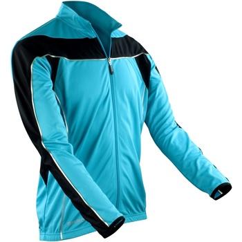 Textil Homem Casacos fato de treino Spiro S255M Aqua/ Negro