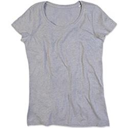 Textil Mulher T-Shirt mangas curtas Stedman Stars Lisa Heather Grey