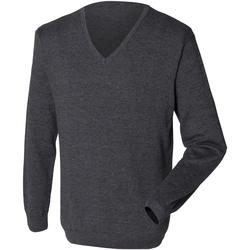 Textil Homem camisolas Henbury 12 Gauge Grey Marl