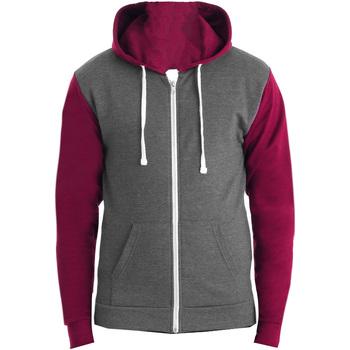 Textil Homem Sweats Awdis JH059 Cinza Carvão Vegetal/Burgundy
