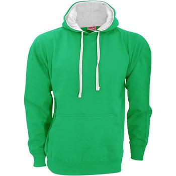 Textil Homem Sweats Fdm FH002 Kelly Green/White