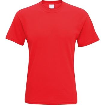 Textil Homem T-Shirt mangas curtas Universal Textiles 61082 Vermelho Brilhante