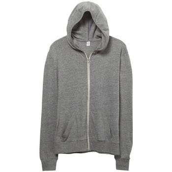 Textil Homem Sweats Alternative Apparel AT002 Cinza ecológica