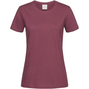 Textil Mulher T-Shirt mangas curtas Stedman  Vermelho Bourgogne