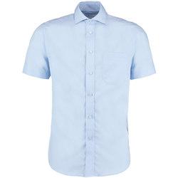 Textil Homem Camisas mangas curtas Kustom Kit KK115 Azul claro
