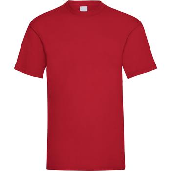 Textil Homem T-Shirt mangas curtas Universal Textiles 61036 Vermelho Escuro