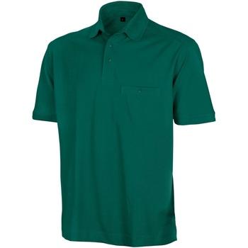 Textil Homem Polos mangas curta Result Apex Garrafa Verde
