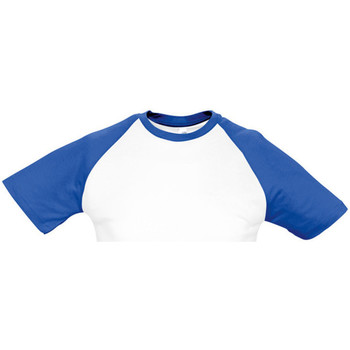 Textil Homem T-Shirt mangas curtas Sols 11190 Branco/azul leal