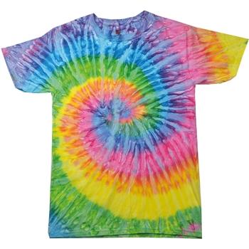 Textil Mulher T-Shirt mangas curtas Colortone Rainbow Saturno