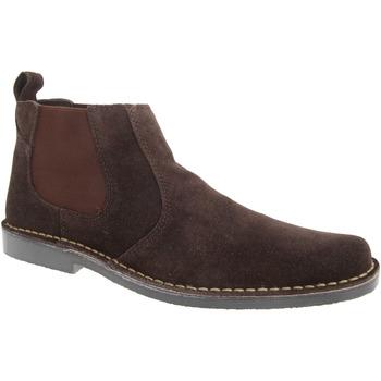 Sapatos Homem Botas baixas Roamers  Marrom Escuro