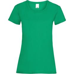 Textil Mulher T-Shirt mangas curtas Universal Textiles 61372 Verde