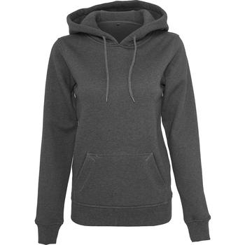 Textil Mulher Sweats Build Your Brand BY026 Carvão vegetal