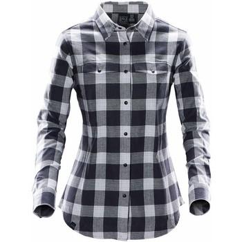 Textil Mulher camisas Stormtech SFX-1W Titânio claro
