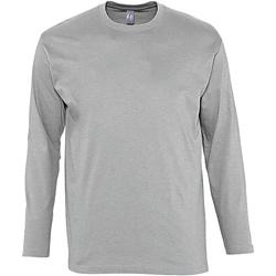 Textil Homem T-shirt mangas compridas Sols Monarch Grey Marl